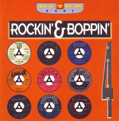 """Cover Album of ULTRA RARE """"ROCKIN' & BOPPIN' VOL.4"""""""