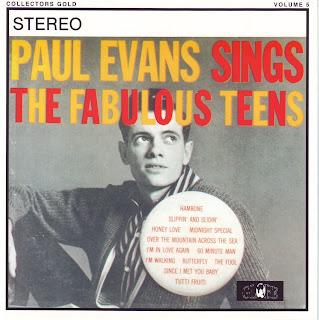 """PAUL EVANS """"SINGS THE FABULOUS TEENS"""""""