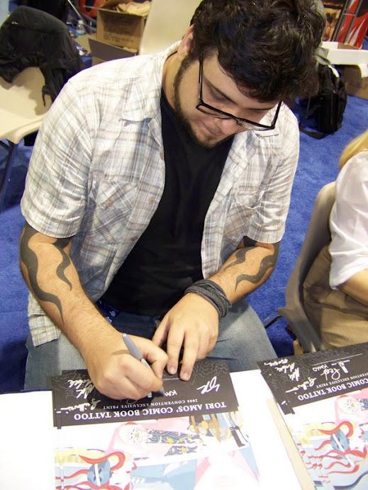 Franco - o Kako - autografando no Salão Internacioanl de San Diego - EUA
