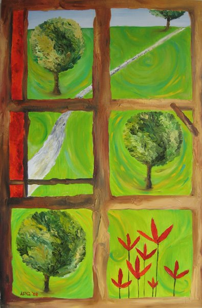 Window of Happiness 116 x 73 cm