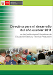 DIRECTIVA PARA EL DESARROLLO DEL AO ESCOLAR 2011