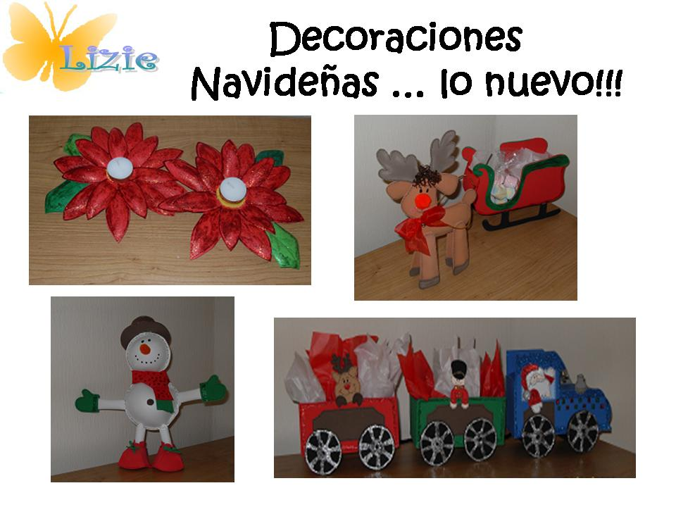 Lizie manualidades decoraciones navide as lo nuevo - Decoraciones navidenas manualidades ...