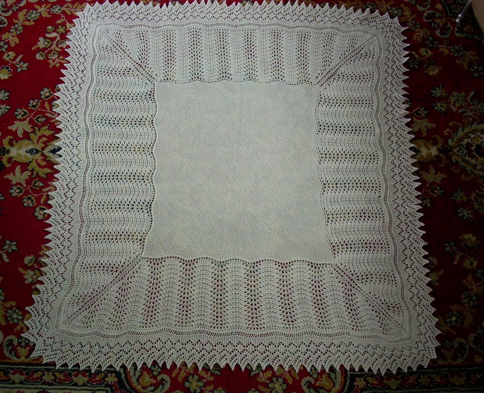 Free Knitting Patterns Baby Blankets Shawls : Umme Yusuf: Shetland Baby Blanket/Shawl