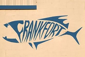 Logo einer Fischhandlung in Frankfort, Michigan © Cornelia Schaible