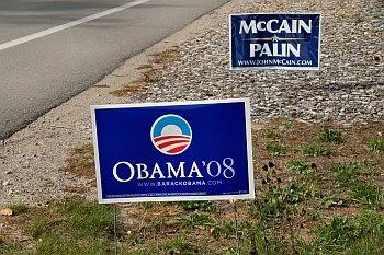 US-Präsidentschaftswahlkampf im Vorgarten © Cornelia Schaible