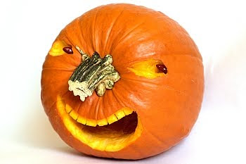 Very scary pumpkin with a Dick Cheney grin © Cornelia Schaible