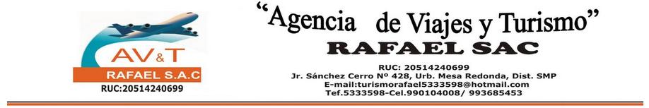 Agencia de Viajes y Turismo Rafael S.A.C