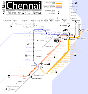 The details of the chennai metro rail map two corridors are given below: