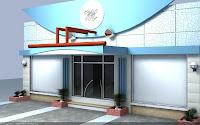 HARSH AGARWAL(Interior Designer): Front elevation of ACp sheet Work