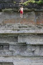 Konner taking a jump