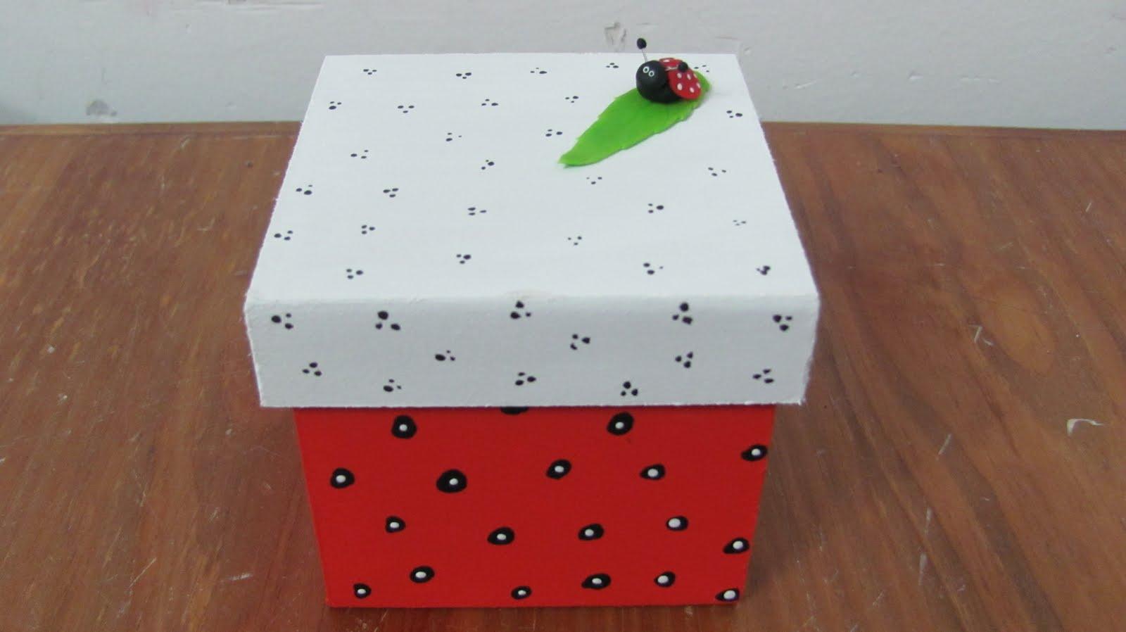 Pinceladitas cajas decoradas 8x8x8 - Cajas grandes de carton decoradas ...