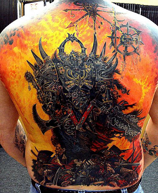 Gallery | Paolo Acuna | Black and Grey Tattoos | Waterfall Back Piece