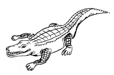 Dessin De Crocodile Au Stylo Flepinet Pictures