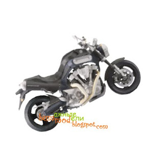 бумажная модель мотоцикла