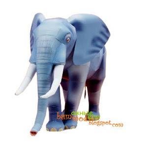 Бумажная модель слона