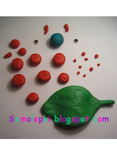 как делать гусеницу из пластилина