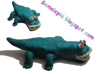 поделка для детей крокодил