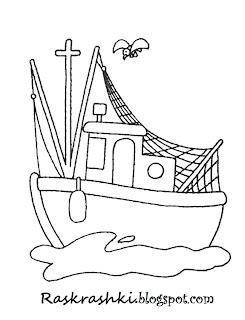 корабли раскраски