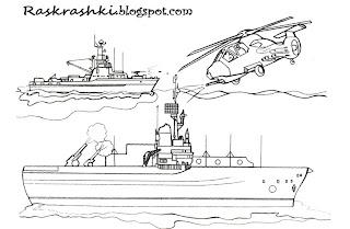 Детские раскрашки корабли