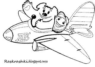 Раскраска самолета для малышей