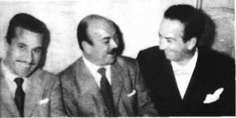 José Basso, Floreal Ruiz y Alfredo Belusi