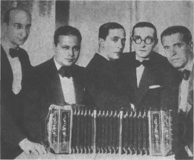 Sebastián Piana,  Ciríaco Ortiz, Pedro Maffia, Carlos  Marcucci y Pedro Laurenz