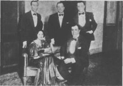 Charlo con Mercedes   Simone, Gardel, Francisco Canaro y Osvaldo Fresedo, en 1933.