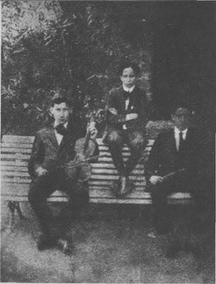Juan D'Arienzo con Ángel D'Agostino y Ernesto Bianchi en 1912