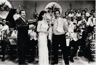 Xavier Cugat, Lina Romay, Miguelito Valdes en 1942