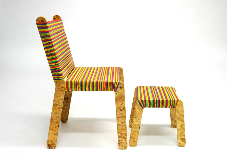 Rubber band furniture, like