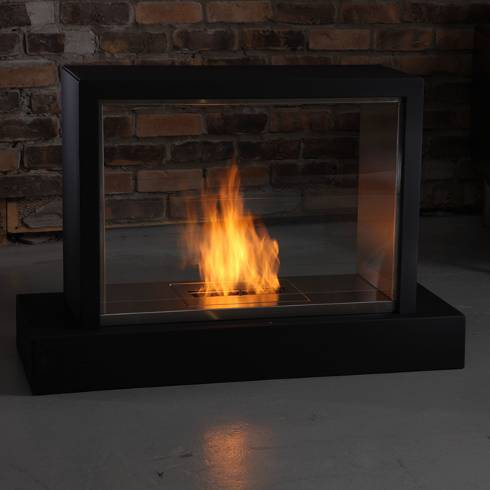Ventless fireplace pictures real flame insight ventless for Contemporary ventless fireplace