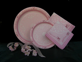 Pink Ribbon Partyware