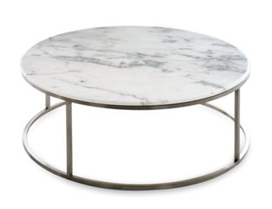 Copy cat chic design within reach rubik round coffee table Round marble coffee tables