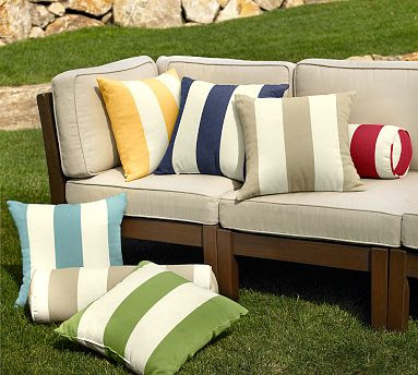 Copy Cat Chic: | Pottery Barn's Classic Stripe Outdoor Cushions