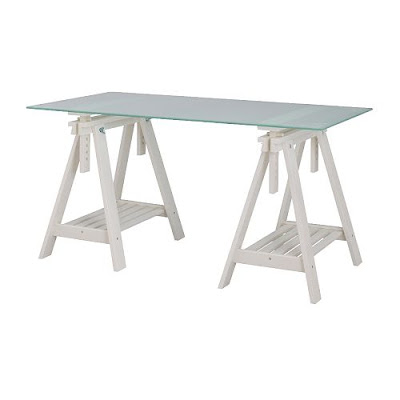 Copy cat chic sawhorse desk madness Sawhorse desk legs