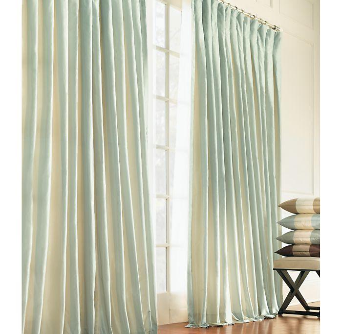 "Restoration Hardware's Silk Taffeta Pavilion Stripe Drapes (50"" x 89 ..."