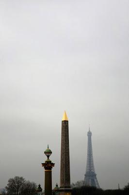 Torre Eiffel y obelisco de Paris