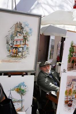 Pintor callejero en Montmartre