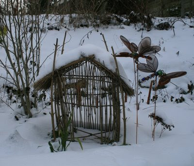Snow on fairy house