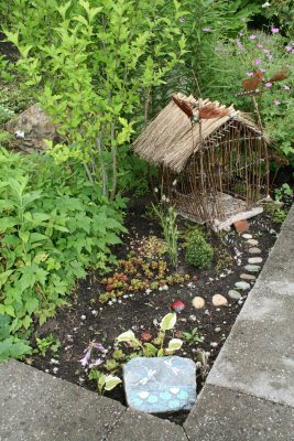 Fairy house in summer