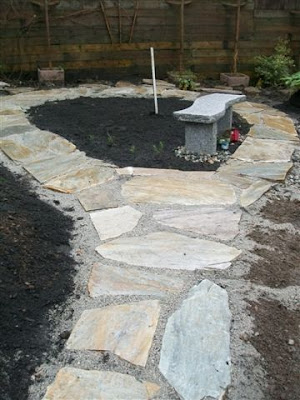 Completed flagstone path