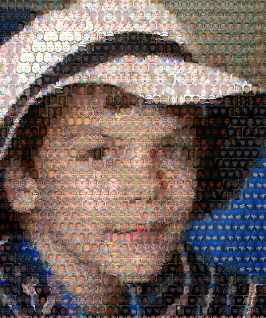 Photo mosaic - portraits within a portrait