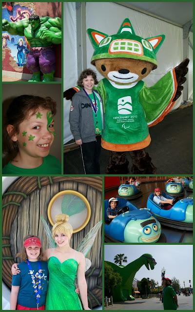 Green Disneyland Universal Olympics mosaic