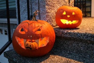 Hallowe'en jack-o-lanterns