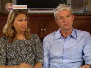 Allyson Dalton y Richard Neely, en el programa del Canal Nueve australiano 'A Current Affair'.