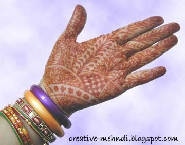 Indian colored mehndi design
