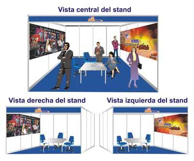 Diseño de stand para una feria del disco