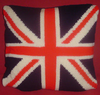 UNION JACK KNITTING PATTERN CUSHION COVER   KNITTING PATTERN