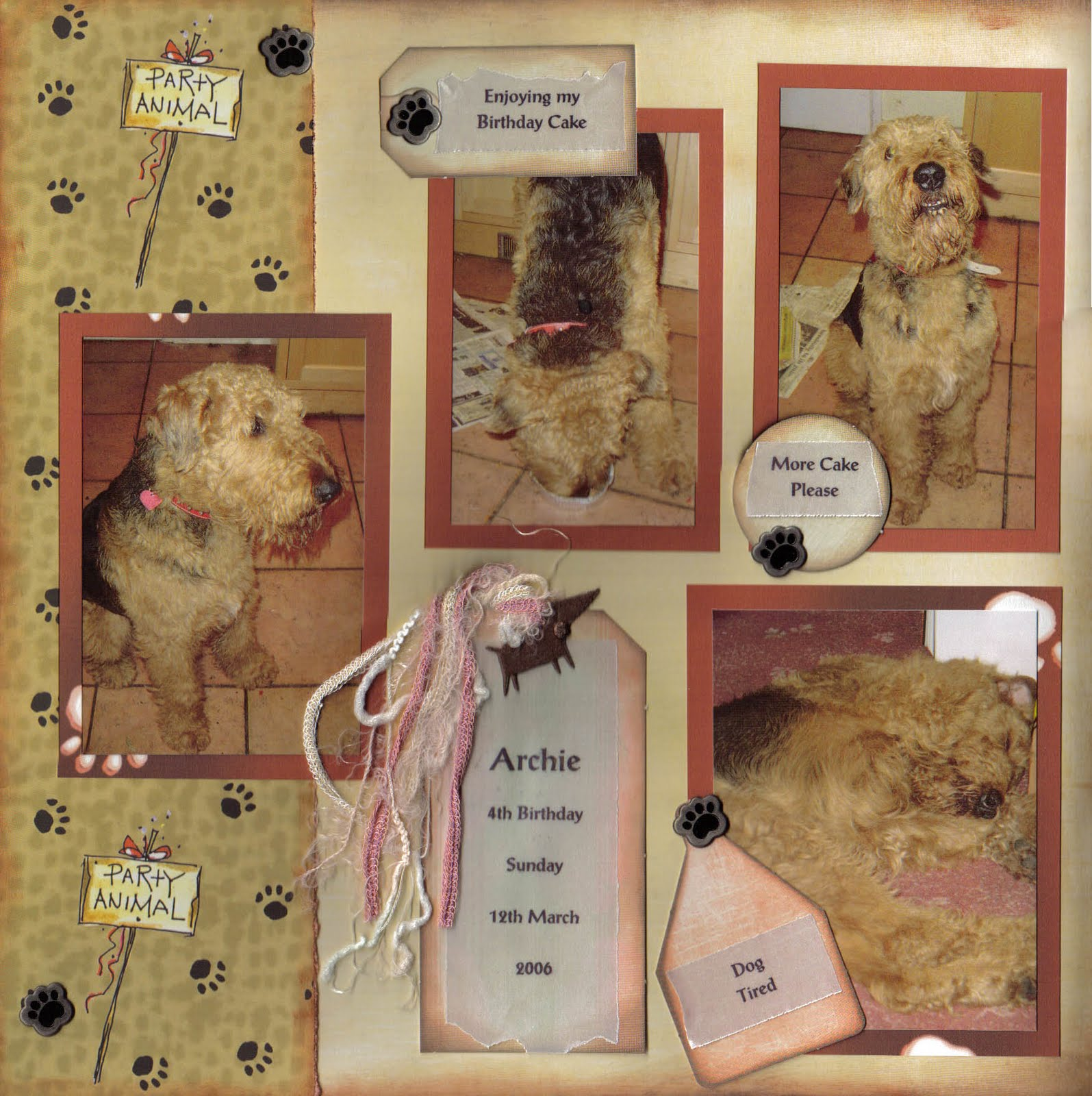 Scrapbook ideas for dogs - Crafting With Dogs