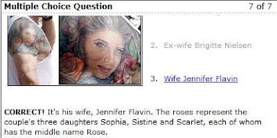 Enquete sobre a tatuagem do Sylvester Stallone